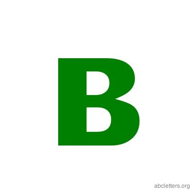 Letter ABC Green B