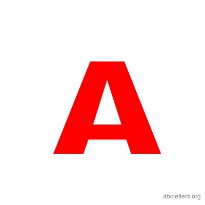 Abc Letters Red on Letter P Template