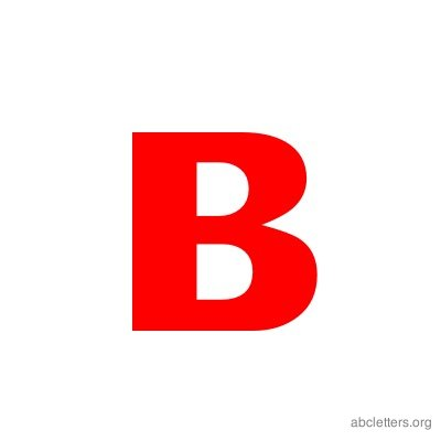 Letter ABC Red B