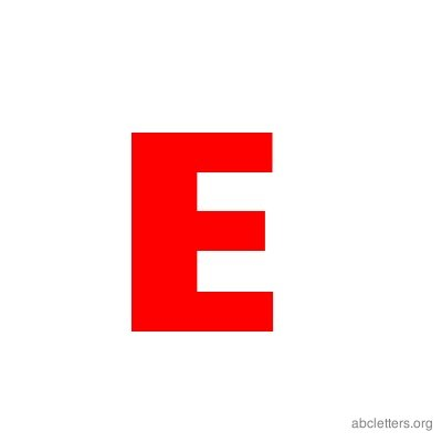 ABC Letters Red E