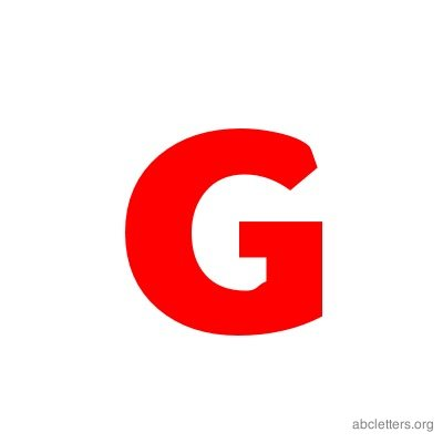 ABC Letters Red G