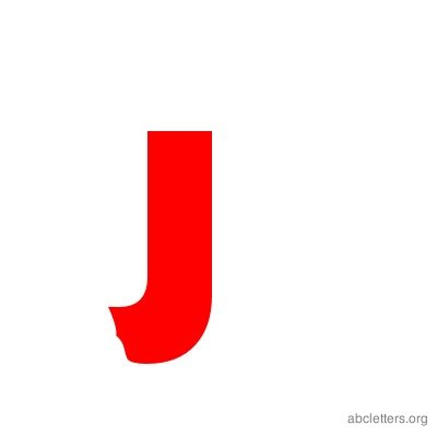 ABC Letters Red J