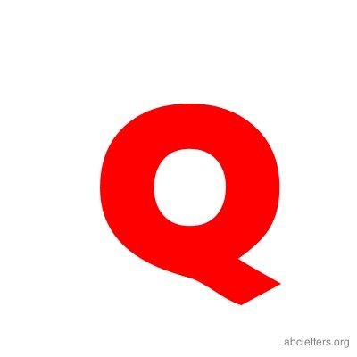 ABC Letters Red Q