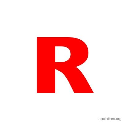 ABC Letters Red R
