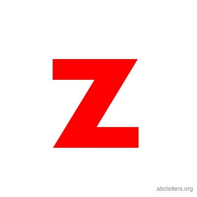 ABC Letters Red Z