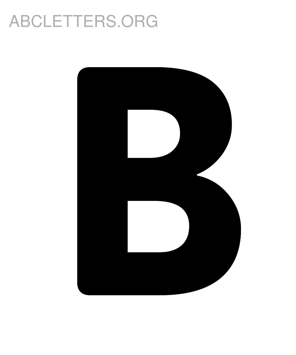 Big Printable ABC Letters B
