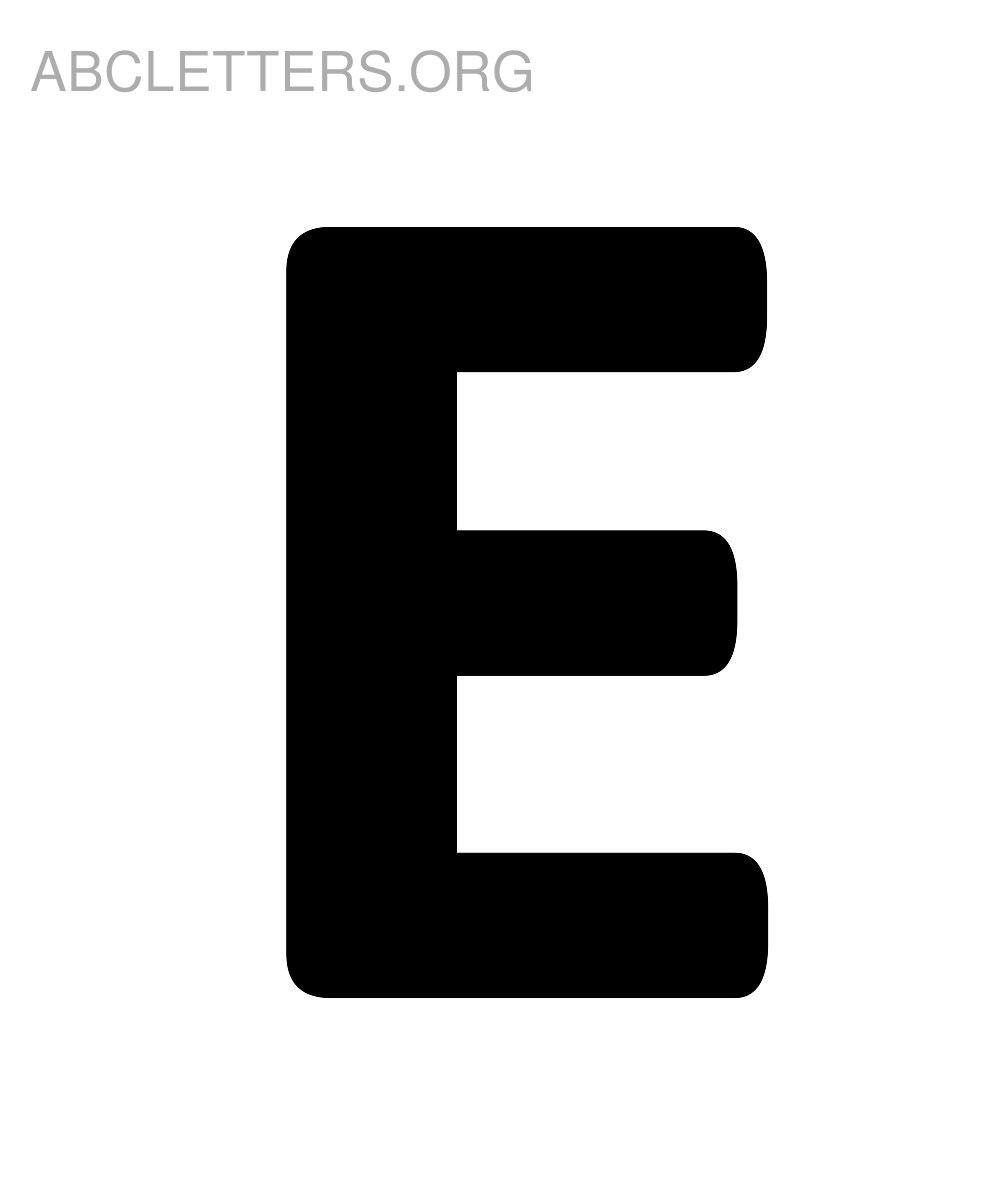 Big Printable ABC Letters E