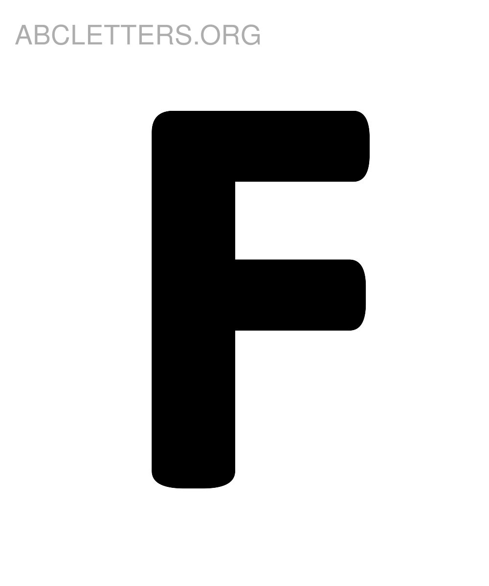 Big Printable ABC Letters F