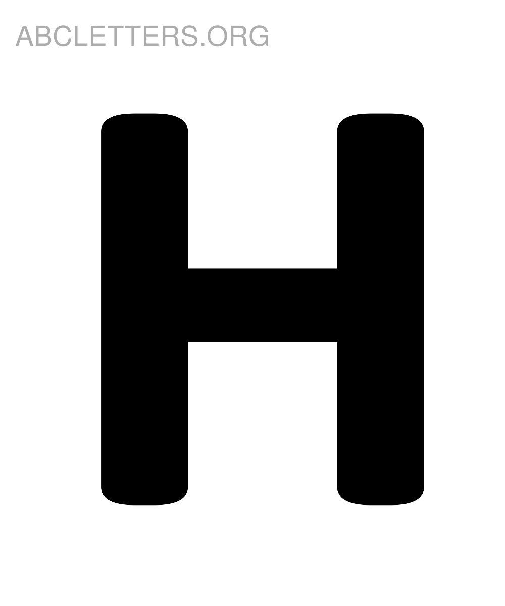 Big Printable ABC Letters H