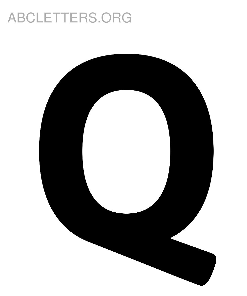 Big Printable ABC Letters Q
