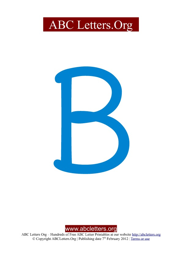 School ABC Letter Printable Templates uppercase blue