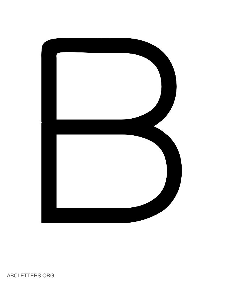 Large abc letters black white b