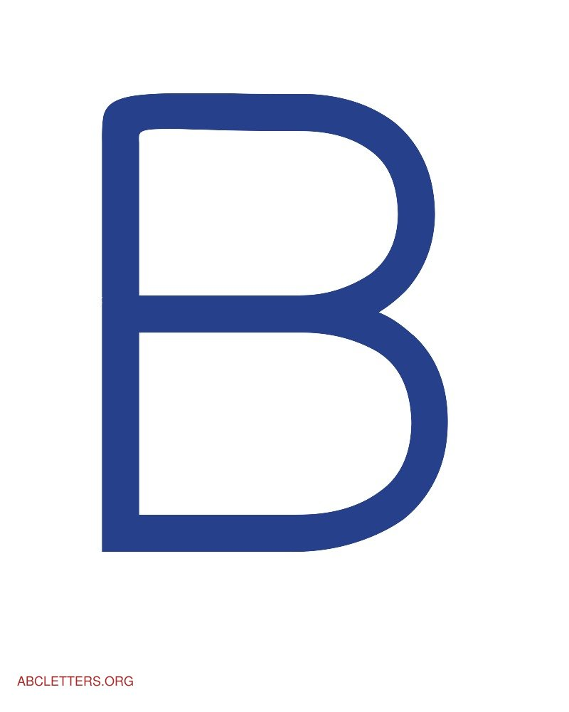 Large ABC Letters Blue White B