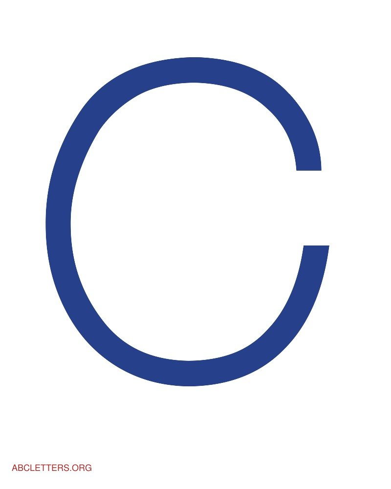 Large ABC Letters Blue White C