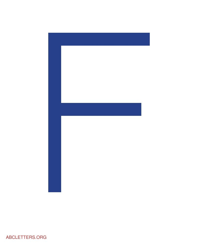 Letters Blue White F