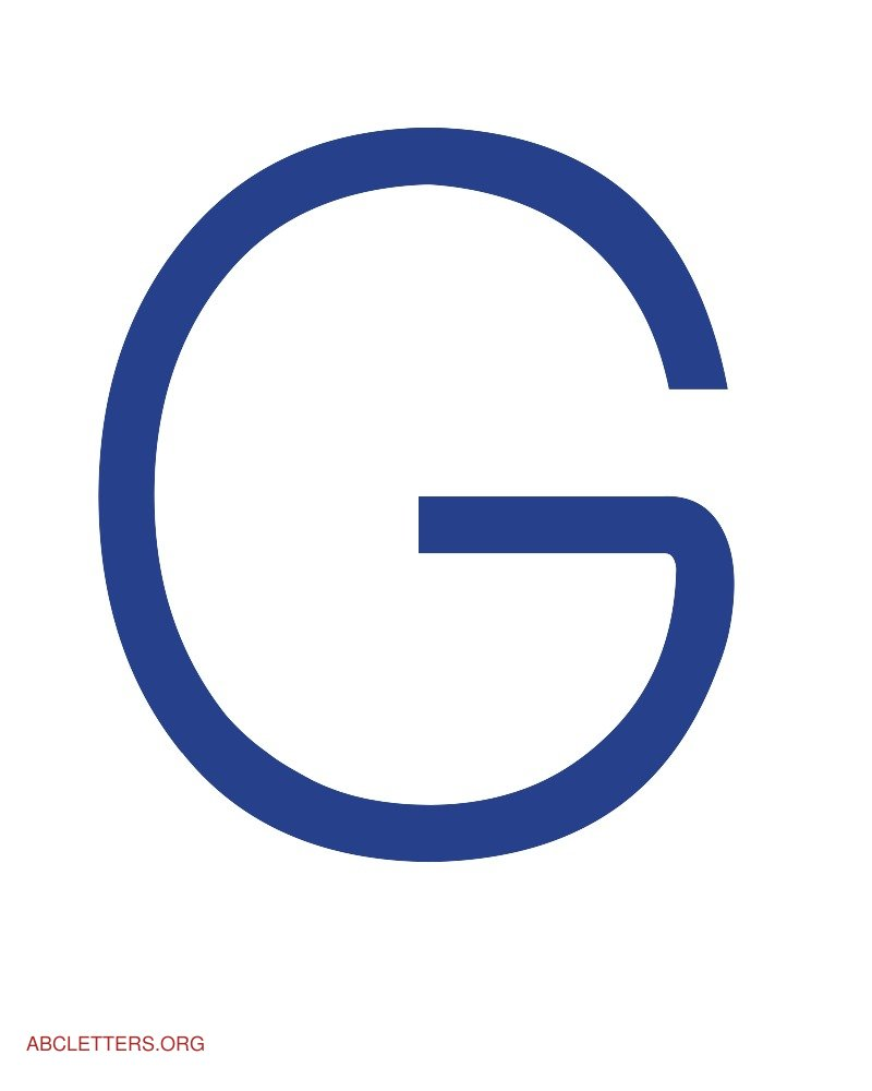 Large ABC Letters Blue White G