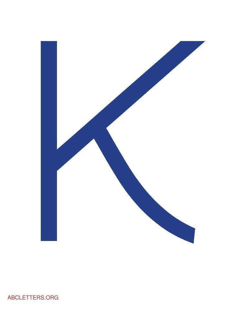 Large ABC Letters Blue White K