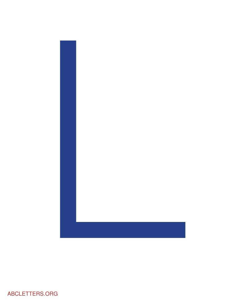 Large ABC Letters Blue White L