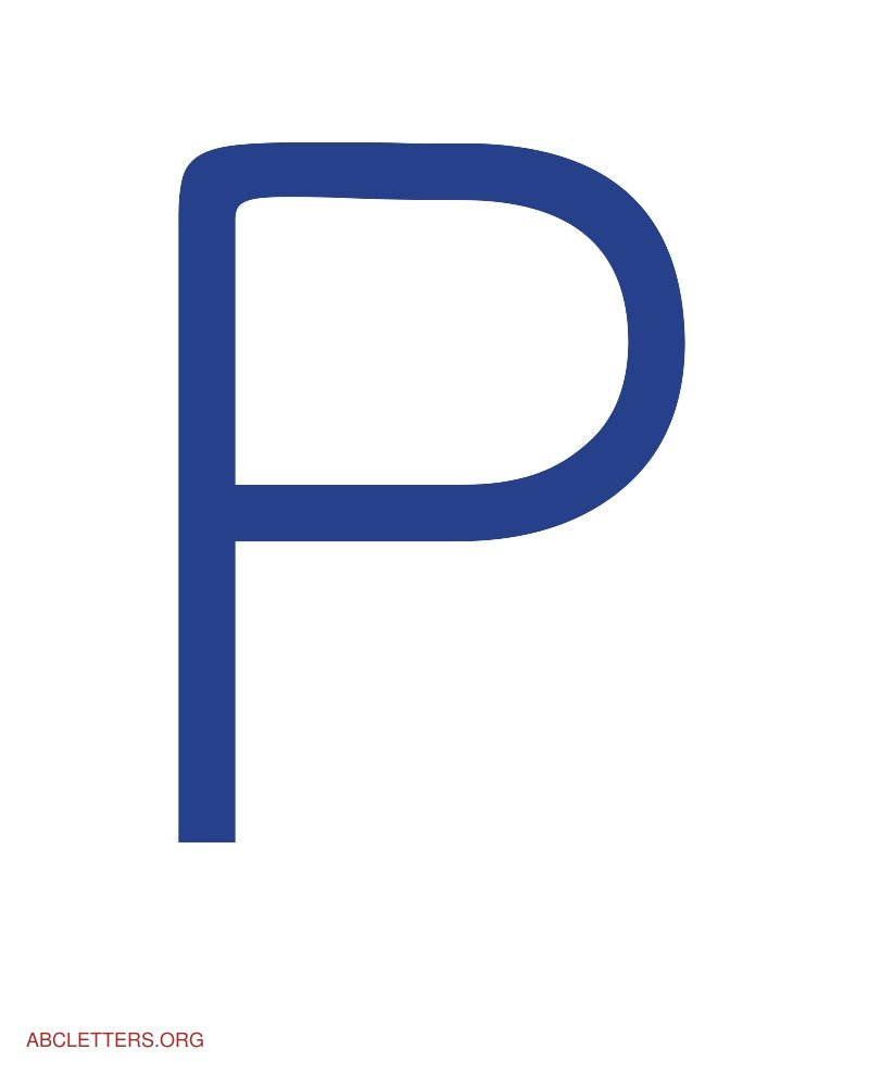 Large ABC Letters Blue White P