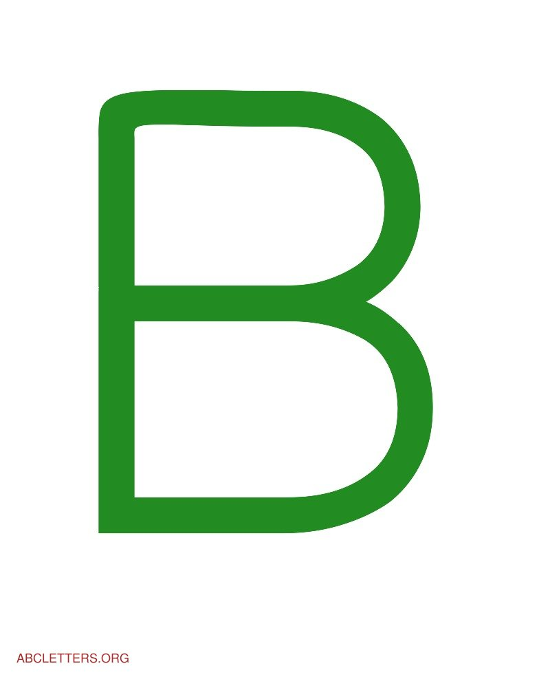 Large ABC Letters Green White B