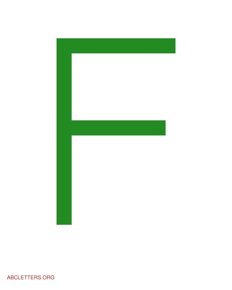 Large ABC Letters Green White F