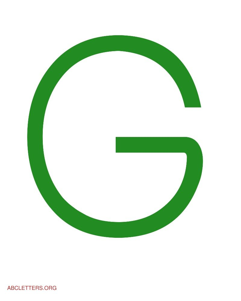 Letters Green White G