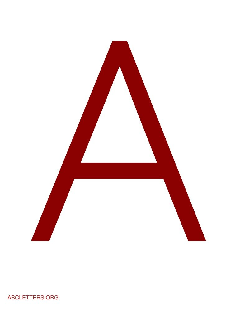 Large ABC Letters Red White A