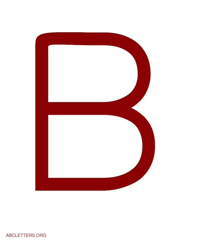 Large ABC Letters Red White B