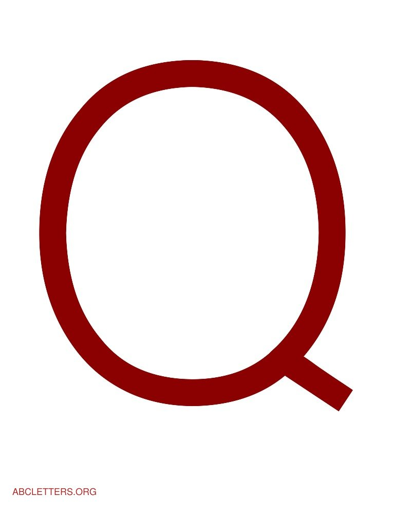 Large ABC Letters Red White Q