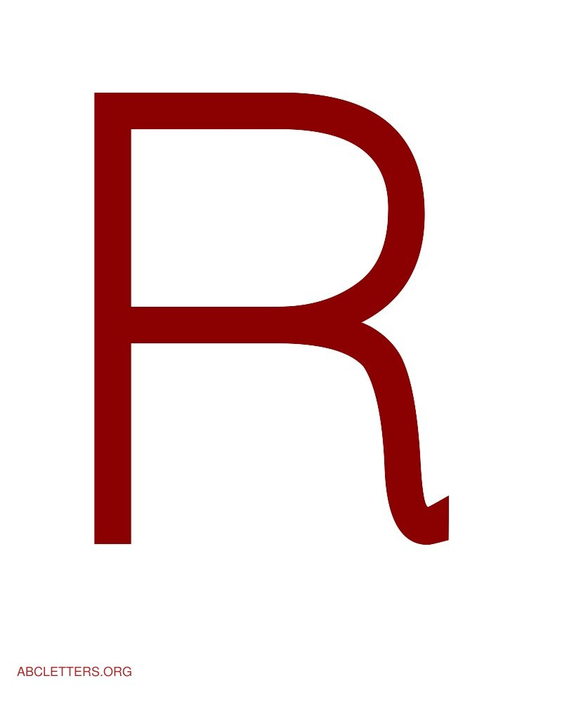 Large ABC Letters Red White R