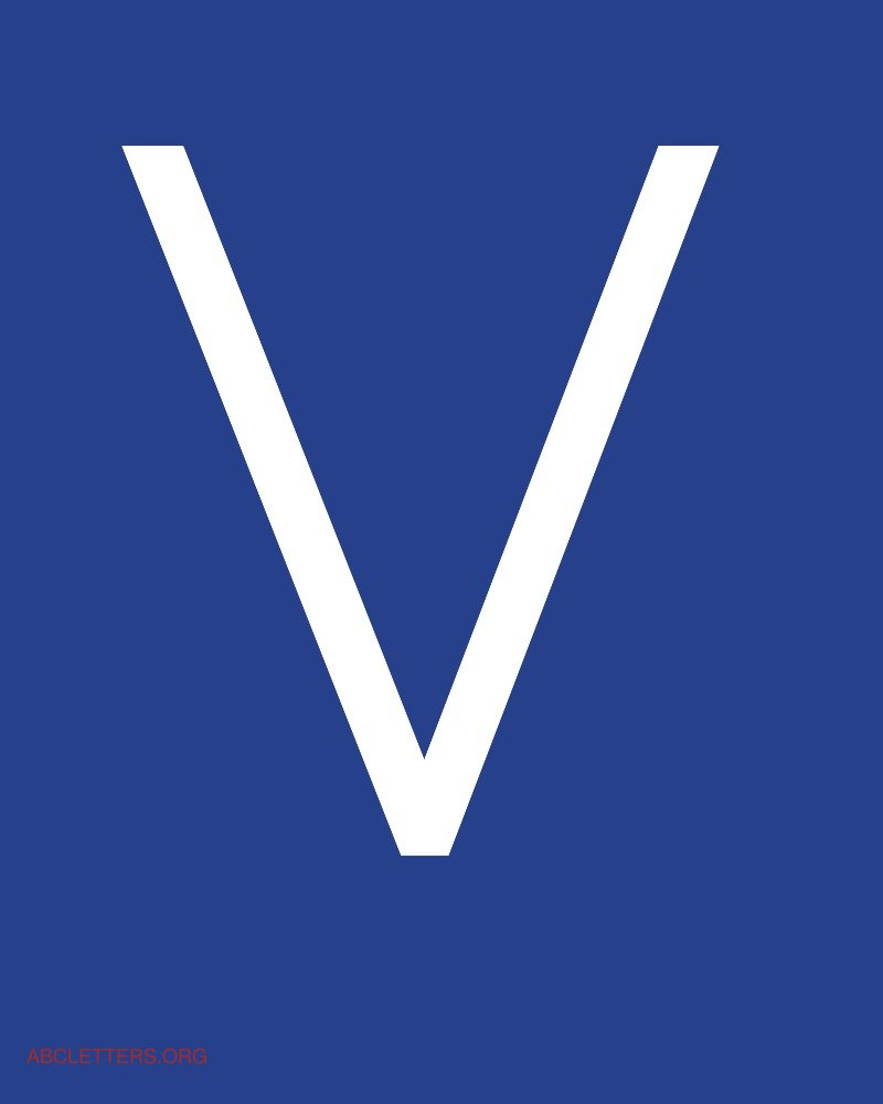 The gallery for --> Letter V In Blue